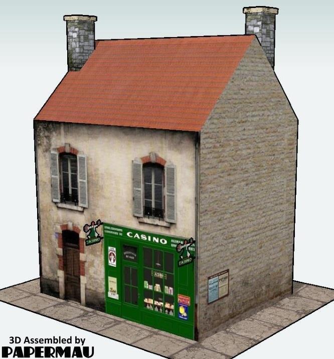 PAPERMAU: Casino Grocery Store Paper Model - by Jean Pierre
