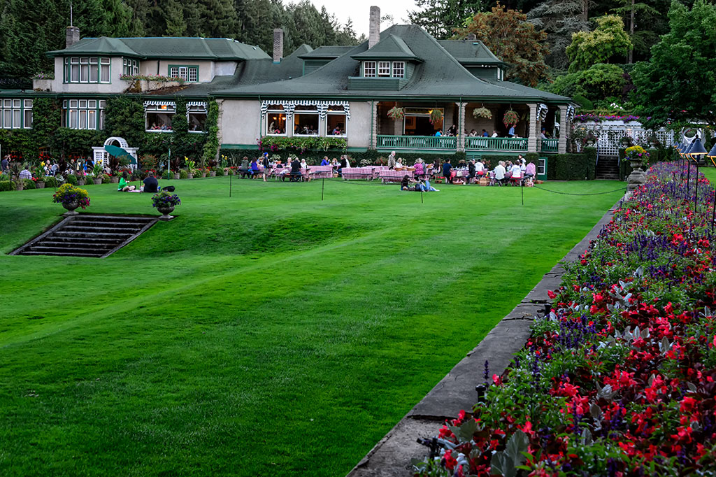 The picnic lawn at The Butchart Gardens