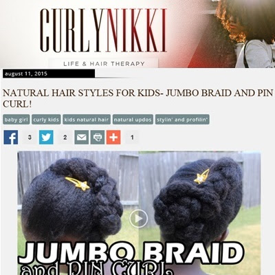 Jumbo Braid with Pin Curl on Natural Hair | Back to School CurlyNikki
