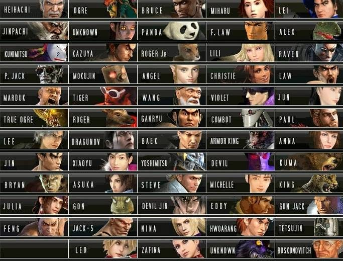 Tekken 6 Characters New Roster All Photos