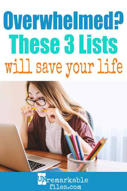 Moms, do you ever feel like you work hard all day and get nothing accomplished? I used to be overwhelmed on a daily basis, but the simple act of writing these 3 lists helped me get organized, manage my time better, and actually get my to-do list finished by the end of the day! #mom #todolist