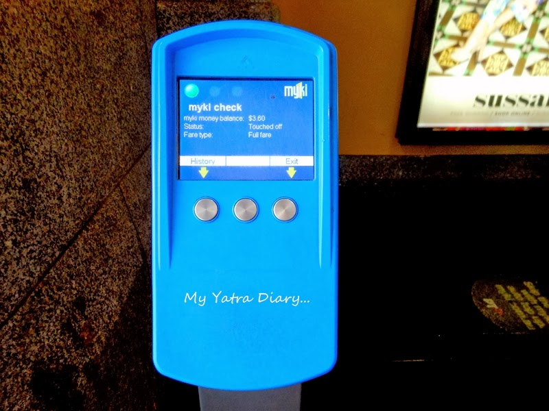 Myki card checking machine