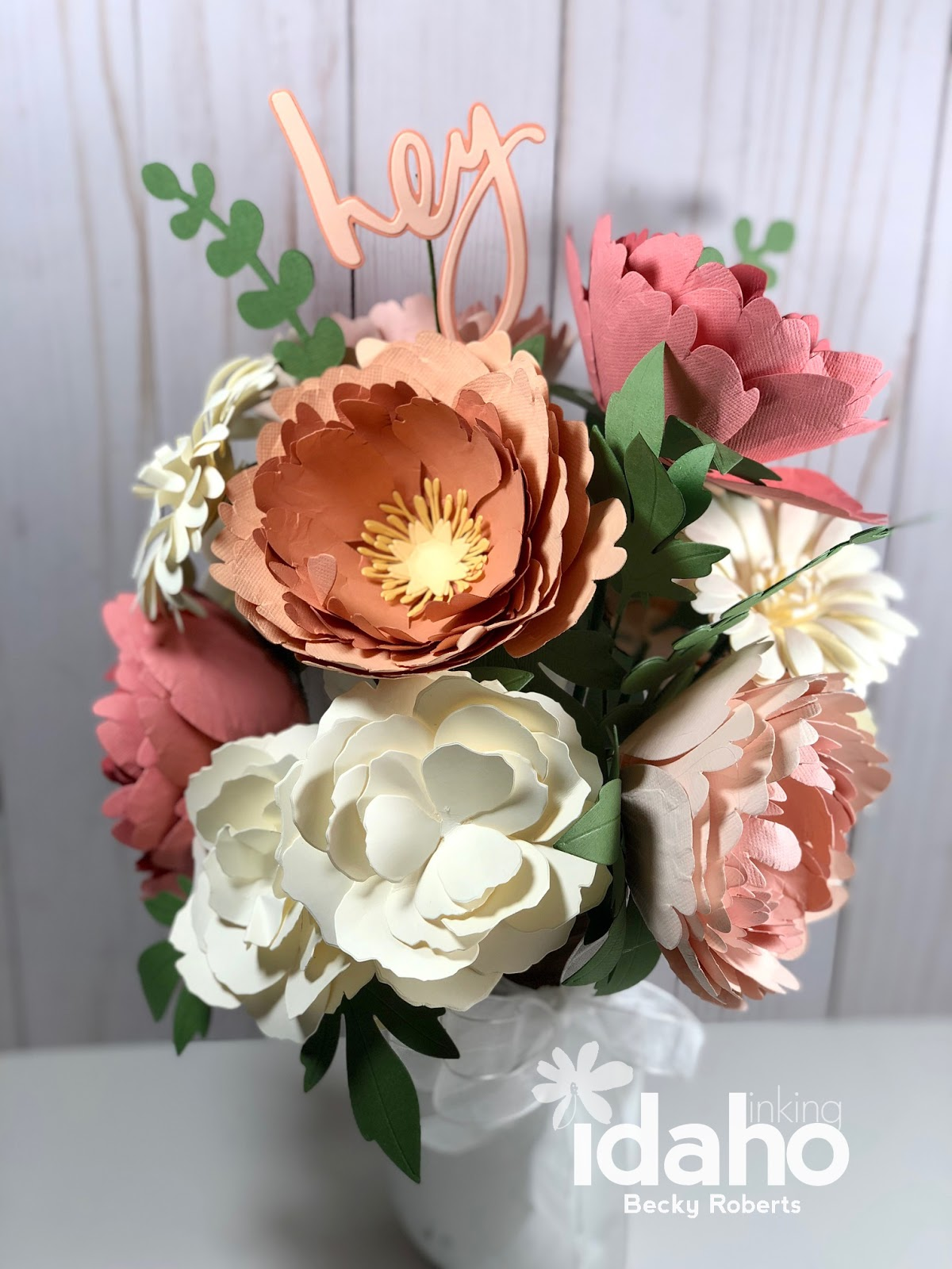 Inking Idaho My Newest Paper Flower Bouquet