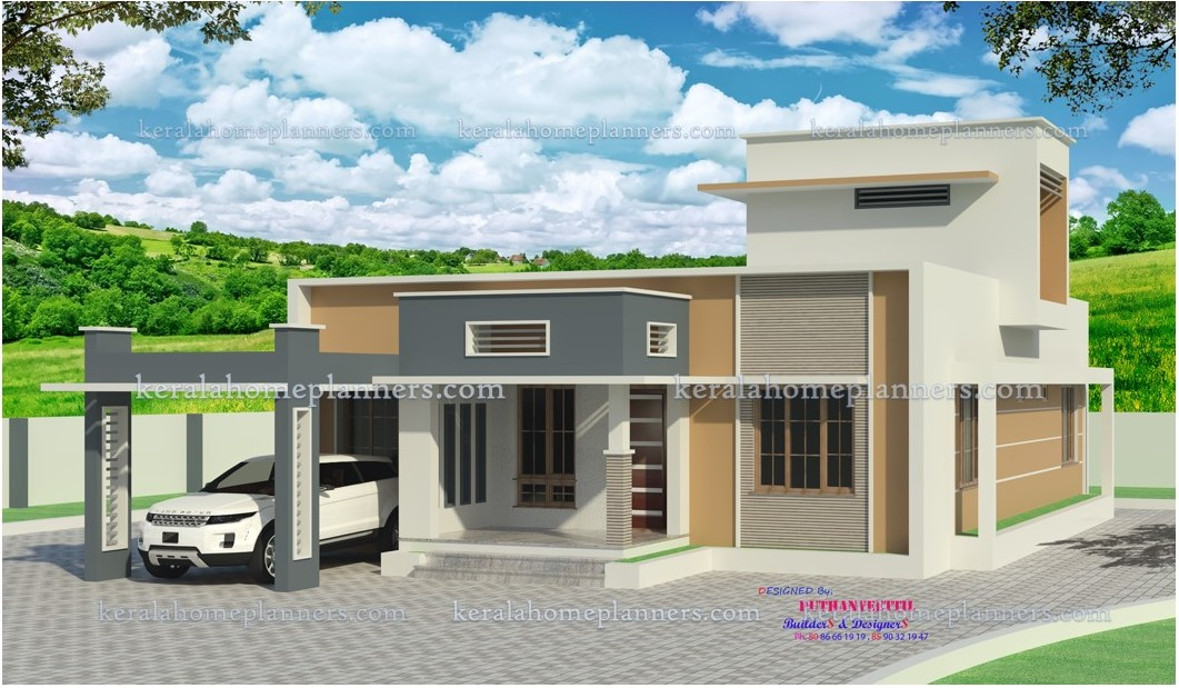 Low cost 3 bedroom modern contemporary home in 20 lakhs for 3 bedroom low cost house plans