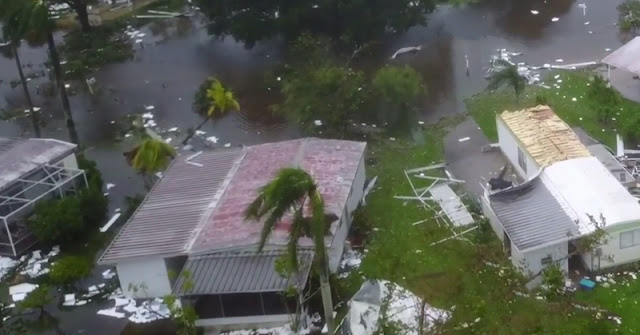 Drone Footage From Naples, Florida Shows Complete Devastation After Hurricane Irma
