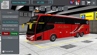 Review Livery Bus Bussid Sari Mustika Jernih SHD + Link Download