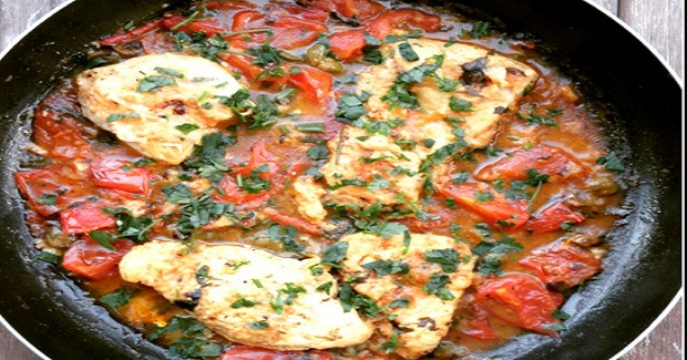 Pan Fried Chicken In Tomato Sauce Recipe