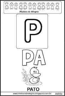 Cartaz das famílias silábicas do P