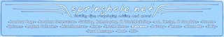 The header image for Springhole's website, with the title surrounded by stylized wings, underneath which are links to the various parts of the site