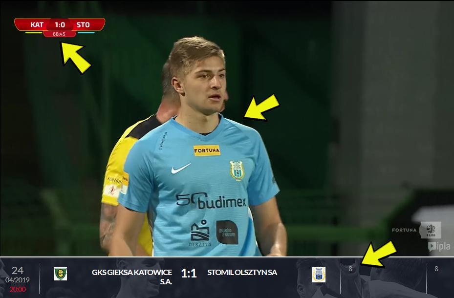 Występ Michała Górala w meczu GKS Katowice - Stomil Olsztyn