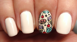 Cat Stamped Nail
