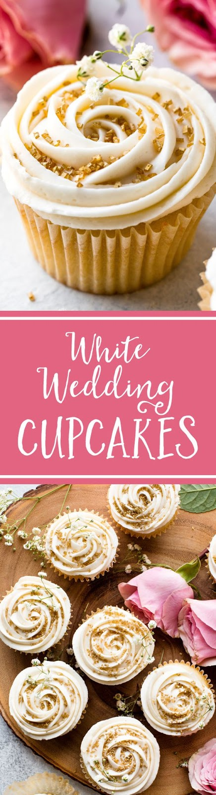 Wedding Cupcakes with Champagne Frosting