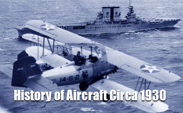 History of Aircraft Circa 1930 illustration picture