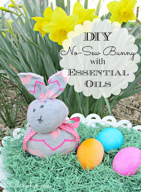 Easy to Make No Sew Bunny with Essential Oils