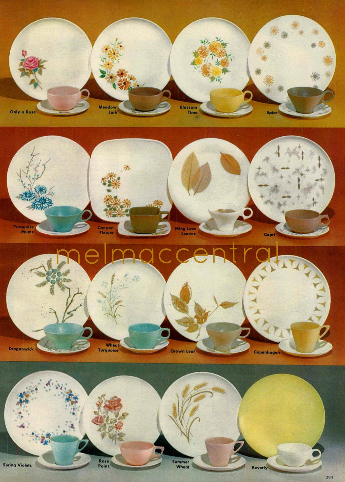 Melmac Patterns from 1962 : melmac dinnerware - pezcame.com