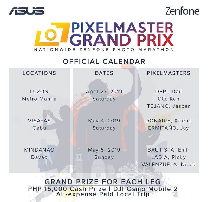 ASUS PixelMaster Grand Prix Schedules