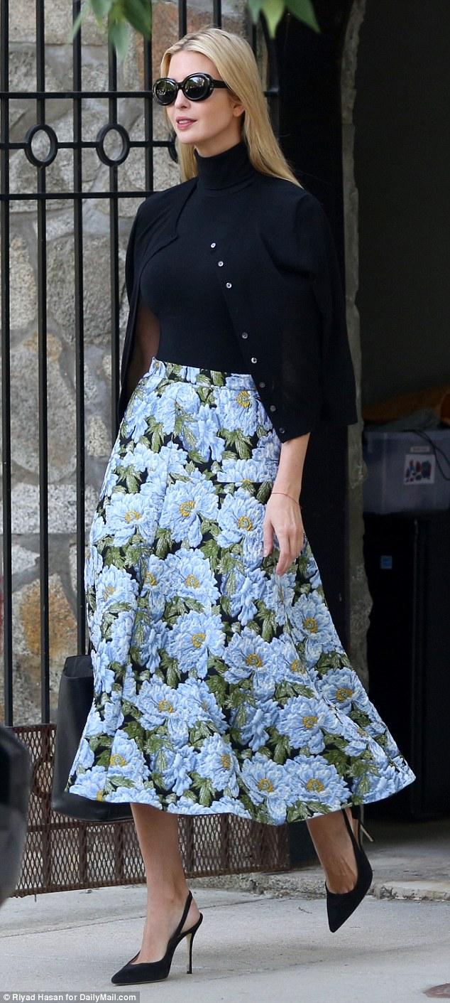 Ivanka Trump cuts a classic look as she heads to work
