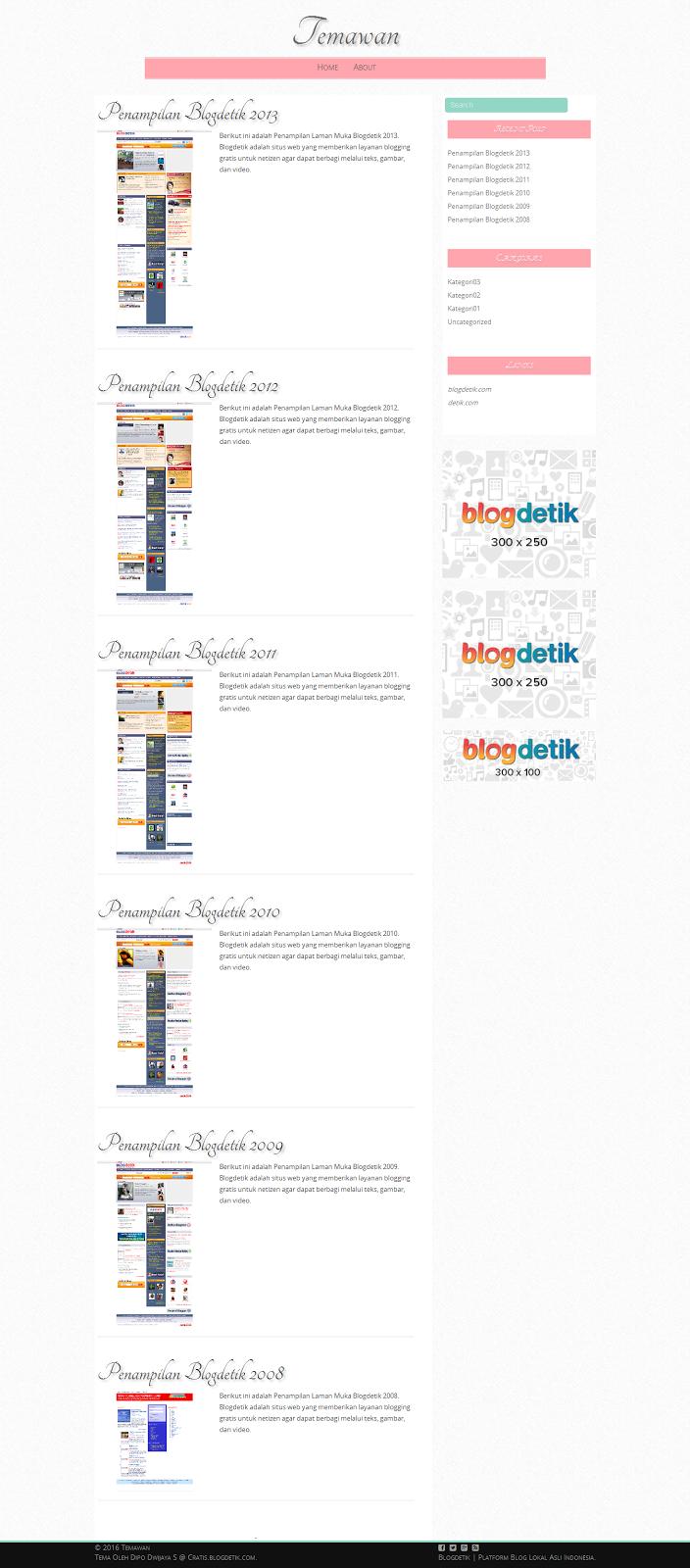 Tema Blogdetik Nikens untuk Laman Muka (Homepage) - Cratis