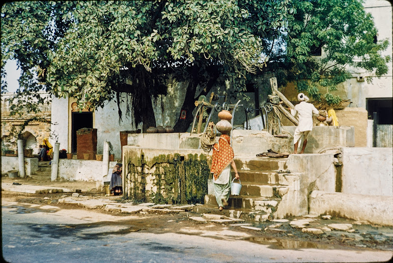 Street Side Well, India - c1950-60's