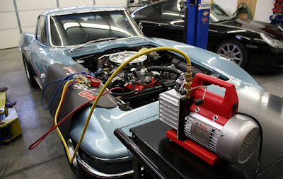 cara mengukur tekanan ac mobil