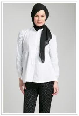 Model Baju Kemeja Kerja Muslim Wanita Modern Terbaru