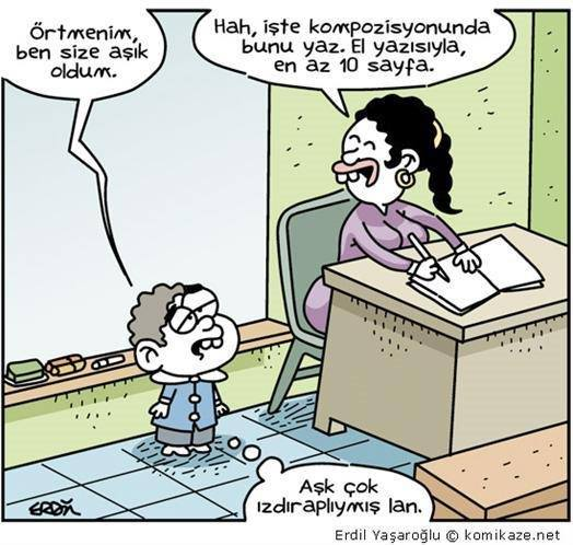 örtmenim karikatürü