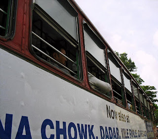 bus with passengers in India