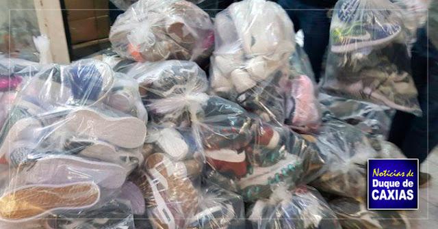 Polícia apreende produtos falsificados avaliados em R$ 3 milhões em Duque de Caxias