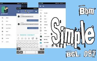 Download BBM Simple Mod Versi 3.3.6.51 Apk Terbaru