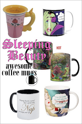 "Wake up Sleeping beauty with these fun and beautiful coffee mugs. They are perfect to enjoy with a good book and a little bit of ""me time."""