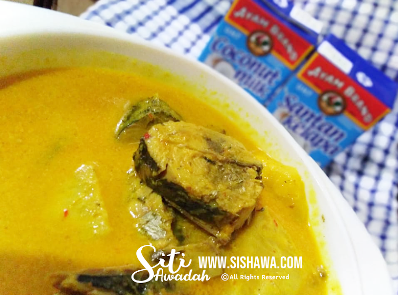 Resepi : Gulai Kuning Ikan Tongkol Bersama Nenas Dan Terung