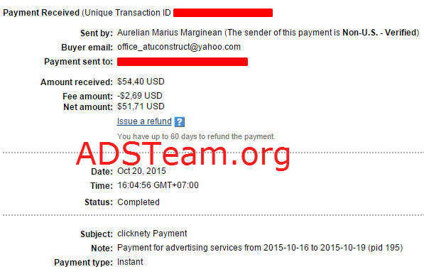 Clicknety Payment Proof