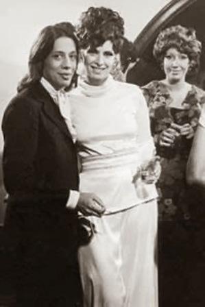 Clodovil e a atriz Marisa Woodward