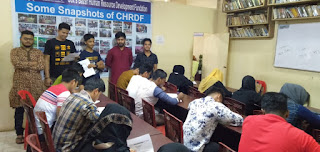 Having done a three month course from CLC/CHRDF's, SSC Batch's students are performing exams at CLC/CHRDF