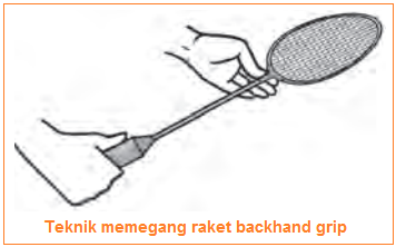 Teknik memegang raket backhand grip - permainan bulutangkis