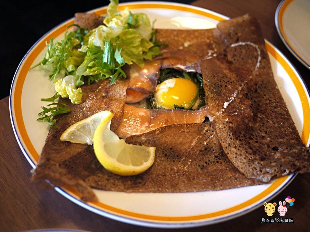 燻鮭魚蕎麥薄餅