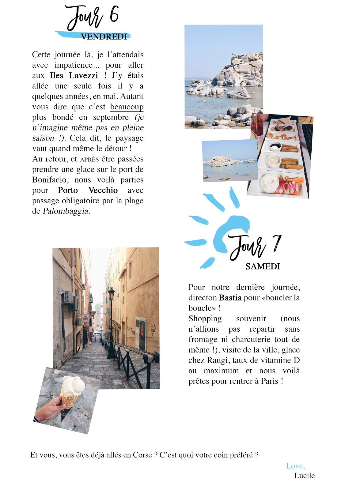 porto vecchio bastia corse en une semaine 7 jours bonnes adresses voyage vacances soleil sud france blog lucileinwonderland lifestyle iles lavezzi bonifacio