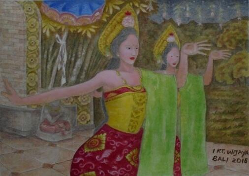 Puspanjali Dance Bali, Tari Puspanjali Bali, Puspanjali Balinese Dance