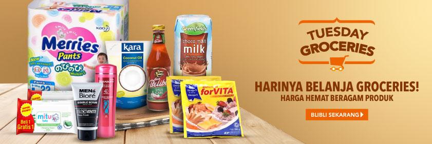 #BliBli - Promo Belanja Harga Hemat Tuesday Groceries (HARI INI)