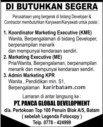 Lowongan Kerja PT. Panca Global Development