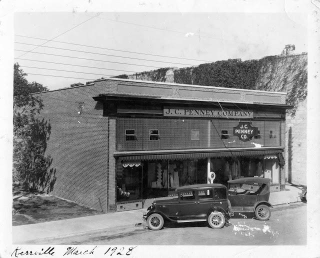 J. C. Penney store, downtown Kerrville, 1928