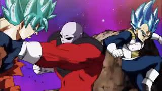 Jiren vs Goku and Vegeta