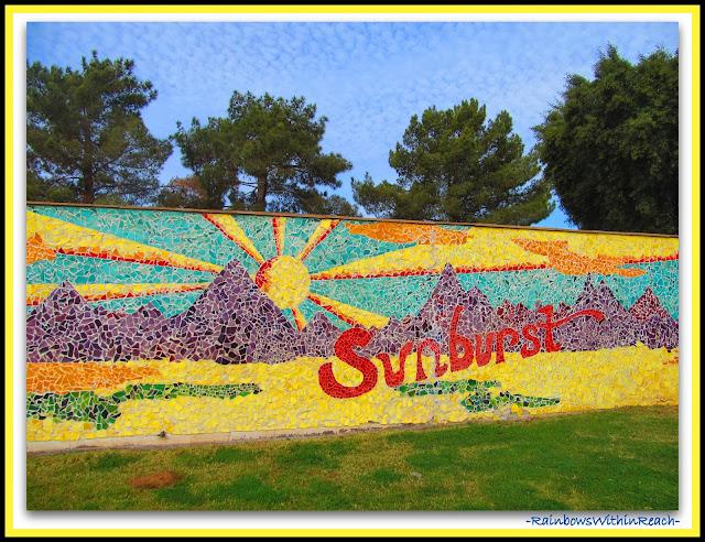 Sunburst Elementary, AZ School Mosaic via RainbowsWithinReach