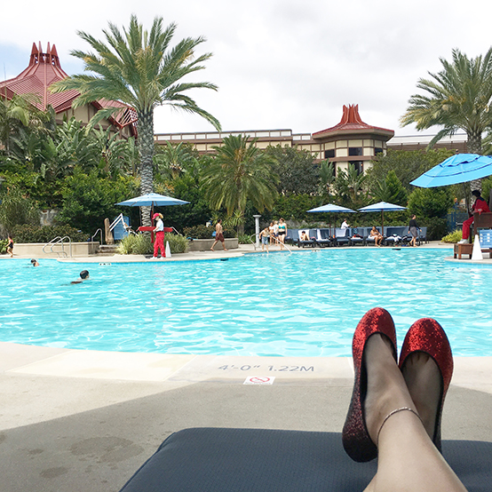 Disneyland Hotel Pool / Dapper Day at Disneyland- Spring 2016