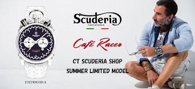 大阪 梅田 ハービスプラザ WATCH 腕時計 ウォッチ ベルト 直営 公式 CT SCUDERIA CTスクーデリア Cafe Racer カフェレーサー Triumph トライアンフ Norton ノートン フェラーリ CS20120 CS20120LE  SUMMER LIMITED 限定モデル
