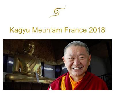 Kagyu Monlam présidé par Ringu Tulku Rinpoche.