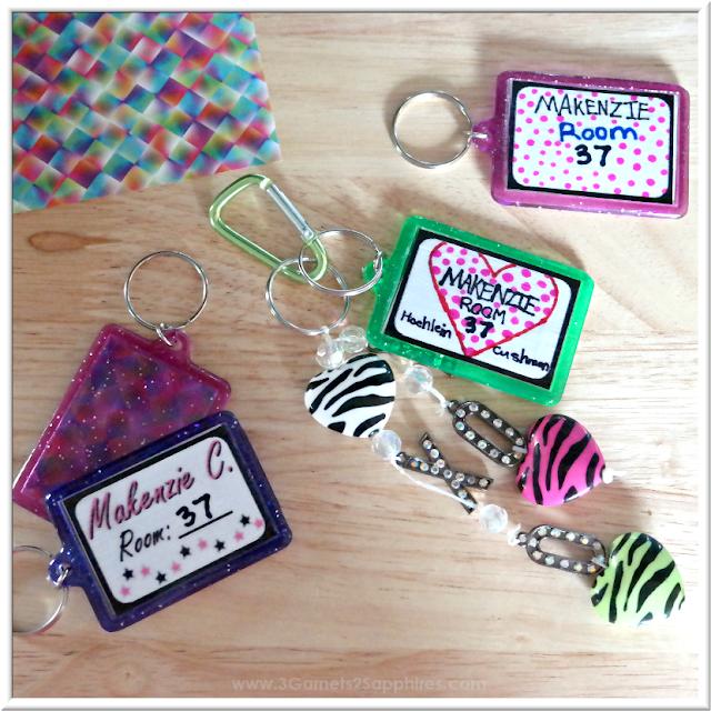 DIY Bag Tags & Bag Charms for Back-to-School  |  3 Garnets & 2 Sapphires