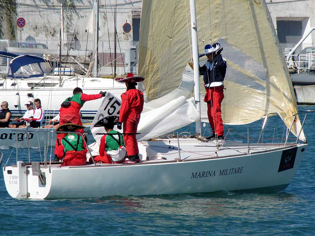 Mexican crew with sombreros, 28th TAN (2011), Livorno