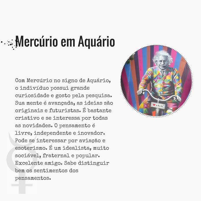 Mercurio em aquario
