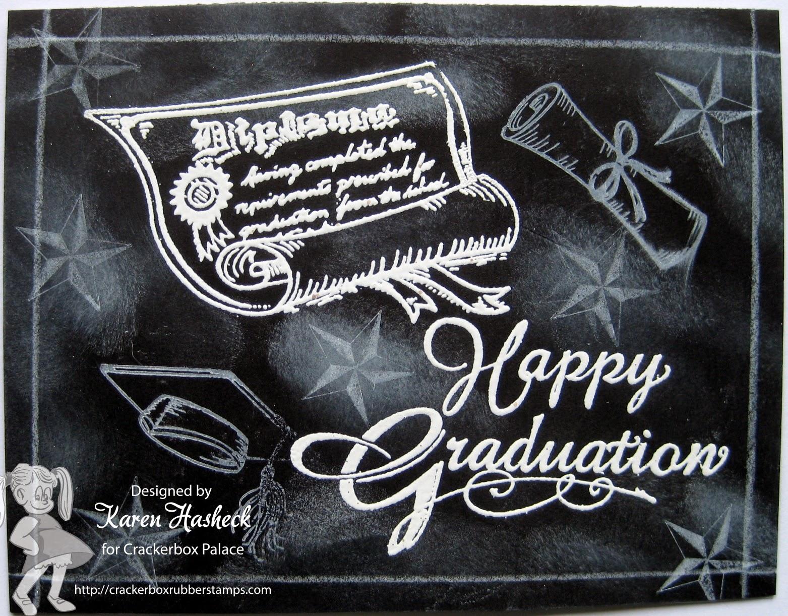 karen s kreative kards happy graduation chalkboard card